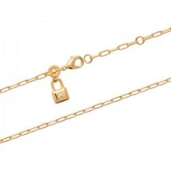 Bracelet Plaqué Or 18 carats petit pendant cadenas