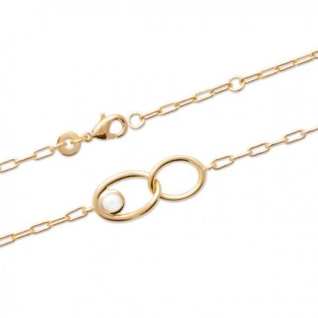 Bracelet Plaqué or 18 carats pierre de lune naturelle