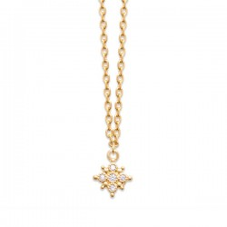 Collier Plaqué Or 18 carats étoile zirconium