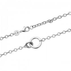 Bracelet argent massif 925/000 rhodié anneaux entrelacés