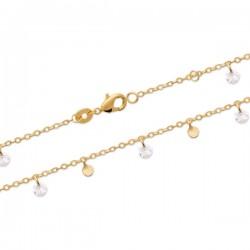 Bracelet pampilles en plaqué or 18 carats et zirconiums