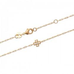 Bracelet Plaqué Or 18 carats croix zirconium