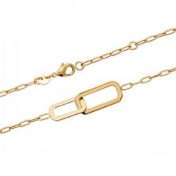Bracelet Plaqué Or 18 carats maillons rectangulaires tendance chaine