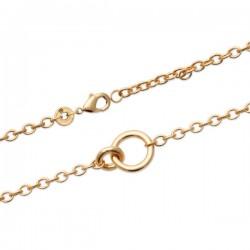 Bracelet anneaux entrelacés Plaqué Or 18 cartas