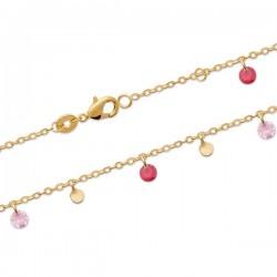 Bracelet Plaqué Or 18 carats pampilles ton rose