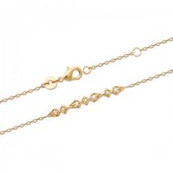 Bracelet Plaqué Or 18 carats formes géométriques Bijou tendance