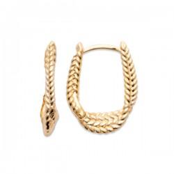 Boucles d'oreilles créoles Plaqué or 18 carats motifs épis Bijou tentance