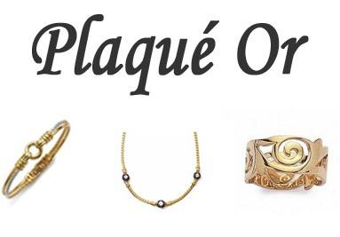 Bijoux en Plaqué Or 18 carat